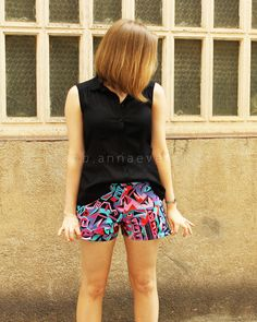 Plan B anna evers DIY blog shorts (free pattern) step