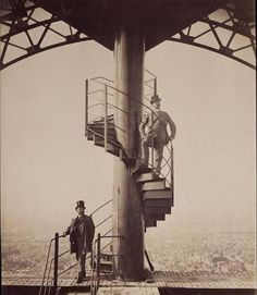 Gustavo Eiffel at the top of his tower 1889