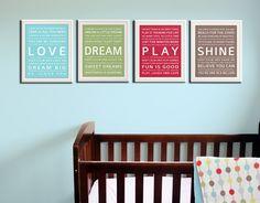 Typography art prints baby nursery art prints Kids Wall by Wallfry, $47.00