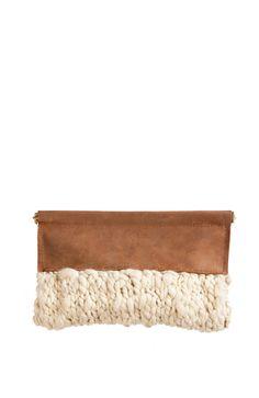 Annie Williams x Josi Faye wool + leather clutch