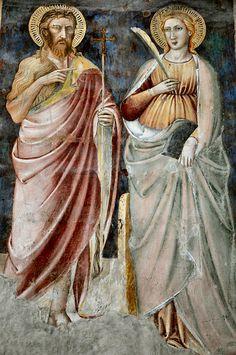 Fresco in San Miniato al Monte Basilica, Firenze