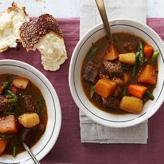 This hearty stew calls for some nice, toasted crusty bread.