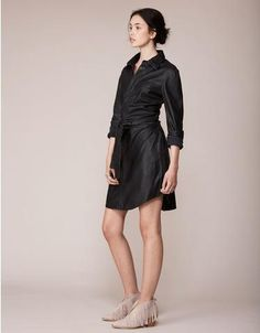 Hunter Black Leather Dress