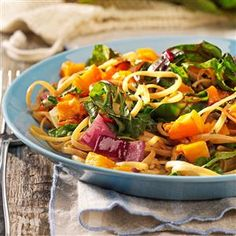 Roasted Butternut Linguine Recipe -Squash is one of our favorite vegetables, and this is my husband's favorite fall dish. He looks forward to it all year. —Kim Caputo, Cannon Falls, Minnesota