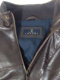 Marks & Spencer Blue Harbour Luxury Brown Mens Leather Jacket Size M Chest 38-40 #BlueHarbour