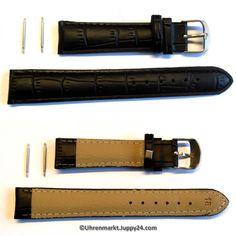 Leder Uhrenarmband - Lederband - Leder Armband schwarz 18 mm NEU zum Belt, Watches, Accessories, Fashion, Leather Cord, Black, Belts, Moda, Wristwatches