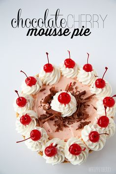 Chocolate Cherry Mousse Pie with Eagle Brand™ Sweetened Condensed Milk #sweetentheseason #eaglebrand