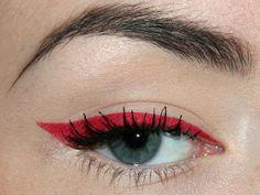 makeup hot pink lines
