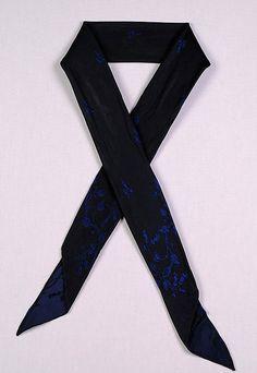 Silk Cravat 1850's Met Museum of NY Number 2009.300.7704