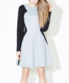 Look at this Gray & Black Deedee Dress on #zulily today!