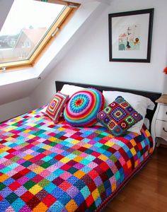 Dormitorio: Cubrecama crochet