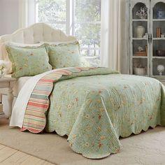 Garden Glitz Bedspread Set Celadon
