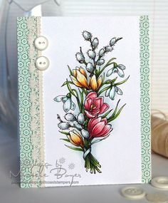 Step by step coloring flowers (by Michele Boyer)