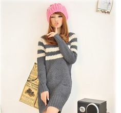$8.99 Long Sleeve Round Neck Long Women Sweater at Online Apparel Store Gofavor