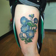 Got to finish these awesome morning glories for Katherine yesterday  cheers! #tattoo #tattooed #ink #inked #morninggloryflower #flowertattoo #customdesign #ladytattooer #empiretattooboston #comegetsome #tattoo #bostontattoo www.empiretattooinc.com