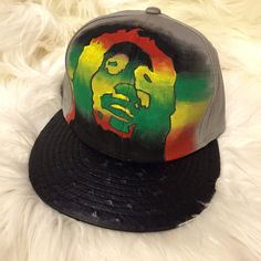 Bob hand painted snapback by designsbyjchang on Etsy Painted Hats 8182299696d