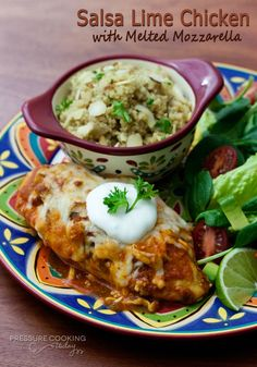 Salsa Lime Chicken Recipe   Pressure Cooking Today