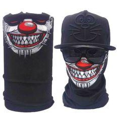 Bandana Face Masks JOESLEY Bandanas for Men Rave Mask Skull Face Mask Neck Gaiter for Dustproof Windproof UV Protection Novel Cool Sports Scarf Cycling Running Headbands 3D Tube Bandanas Headwear