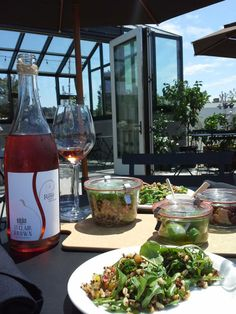 Wine and food on the terrace