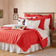 Pioneer Woman Double Stitch Quilt and Sham Set (2 Pack), Red