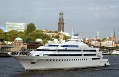 8) Lady Moura – $210 Million-----This yacht is so expensive that the lettering and embellishments in its name are made from 24 karat gold. This vessel is owned by Nassar Al-Rashid, a Saudi billionaire.-