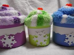 Cozy Winter SockCake Party Favors, packed with goodies, for Ice Skating Party, Winter Party, Snow Themed Party, Skiing Party, Winter Bridal Shower via Etsy.