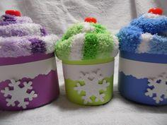 Cozy Winter SockCake shower prize