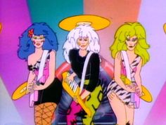 """The """"Misfits,"""" from """"Jem and the Holograms."""" I so wanted to be a Misfit when I was younger!!"""