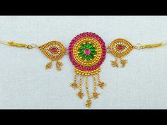 How to make Silk Thread Waist Chain /Belt at Home  Waist key chain   Bridal Waist chain   Tutorial - YouTube