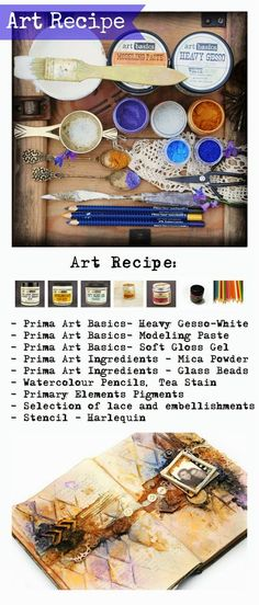 Finnabair - Art Recipe - Remember Your Promise - journal page
