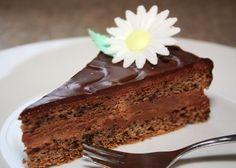 Jednoduchá orechovo čokoládová torta Sweet Desserts, Cooking, Recipes, Food, Cakes, Sweets, Pies, Kuchen, Kitchen