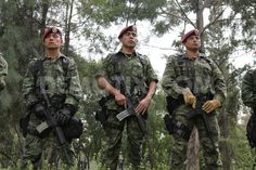 mexican army | Mexican Army soldiers take part in training, drills and parades to ...