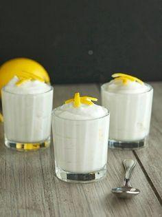 Coconut Lemon Mousse - coconut cream, lemon zest, sugar, salt. So simple!