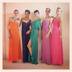 BCBG model search 2012  Love these gowns!  I want the green dress!