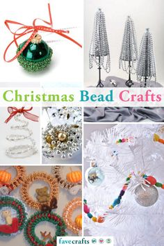 23 Christmas Bead Crafts Christmas Crafts To Make, Simple Christmas, Christmas Bulbs, Bead Crafts, Homemade Gifts, Garland, Merry, Beads, Holiday Decor