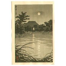川瀬巴水: Moon and Country House - Japanese Art Open Database