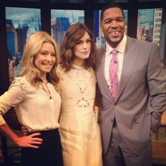 Actress Keira Knightley was on #KellyandMichael to talk about her new film Anna Karenina