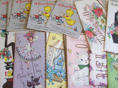 Vintage  Group of 35 Greeting Cards  Great by ShaneLilyRain, $8.00
