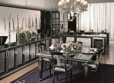 Modern Art Deco Furnitures Glam Kitchen Dining Room Colors