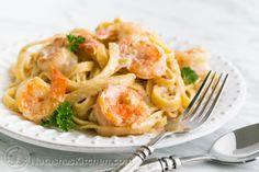 Shrimp Alfredo-10 with white wine