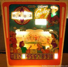 Flipper Cowboy Pinball Game (1962 Gottlieb)