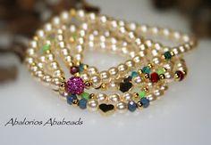 Perlas!          Estas pulseritas desde que se las vi a   Ivette me fascinaron! es el   estilo de pulseras que me gusta usar,   ya que las...
