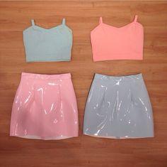 New american apparel vinyl skirts