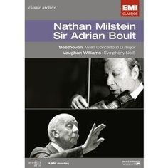 Nathan Milstein, Sir Adrian Boult: Beethoven - Violin Concerto / Vaughn - Williams Symphony No. 8 (Classic Archive) DVD