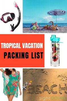 Before your next island or beach trip, grab this tropical vacation packing list with essentials, extras, bonus tips and recommendations from a seasoned traveler Beach Vacation Outfits, Beach Trip, Caribbean Vacations, Beach Vacations, Packing List For Vacation, Packing Tips, Best Beaches To Visit, Beach Reading