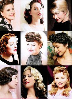 Vintage hairstyles.