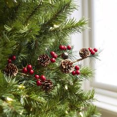 Faux Berry, Pinecone & Bell Tree Pick | Pier 1 Imports