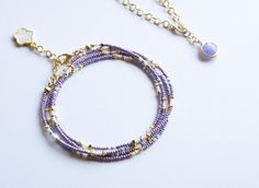 Lilas graine Perle Bracelet multibrins Bracelet par ChooseLikeBuy