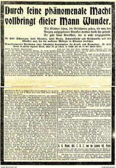 Original-Werbung/ Anzeige 1912 - DOPPELSEITE WUNDERHEILER MANN - PARIS - Ca. 150 X 220 Mm - Werbung