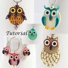 Owl Earrings DIY Tutorial for Paper Quilled Jewelry PDF Owl Earrings and Pendant Designs on Etsy, $5.00